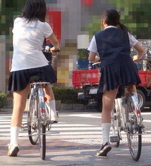 JKの自転車パンチラ盗撮画像集めたから貼っていくわ! 40枚 No.13