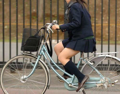 JKの自転車パンチラ盗撮画像集めたから貼っていくわ! 40枚 No.14