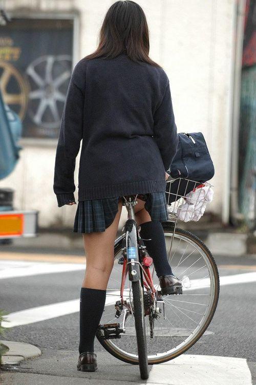 JKの自転車パンチラ盗撮画像集めたから貼っていくわ! 40枚 No.19