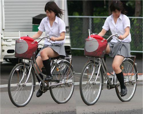 JKの自転車パンチラ盗撮画像集めたから貼っていくわ! 40枚 No.20