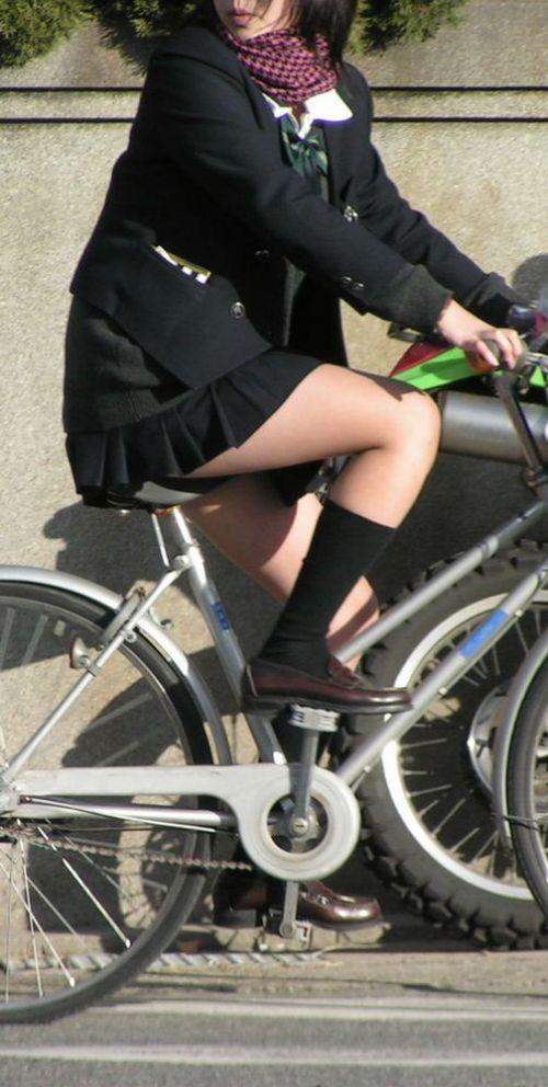 JKの自転車パンチラ盗撮画像集めたから貼っていくわ! 40枚 No.21