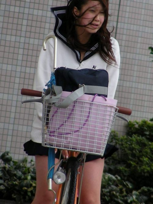 JKの自転車パンチラ盗撮画像集めたから貼っていくわ! 40枚 No.22