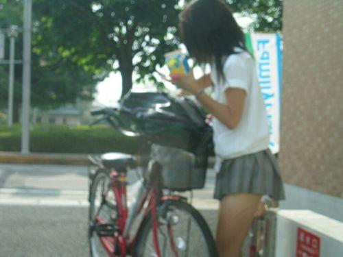 JKの自転車パンチラ盗撮画像集めたから貼っていくわ! 40枚 No.28