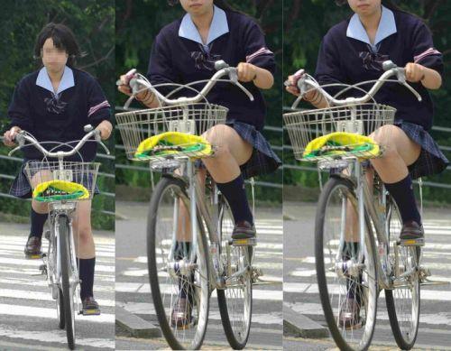 JKの自転車パンチラ盗撮画像集めたから貼っていくわ! 40枚 No.34