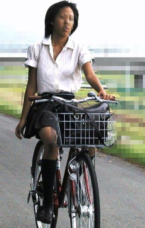 JKの自転車パンチラ盗撮画像集めたから貼っていくわ! 40枚 No.35