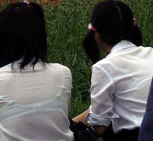 セーラー服が透けて乳首が見えることもあるJKの透けエロ画像 43枚 No.15