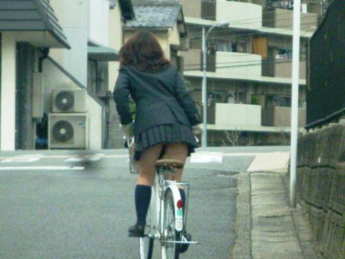 【盗撮画像】風が吹いたらパンチラしちゃう自転車通学JK画像 41枚 No.20