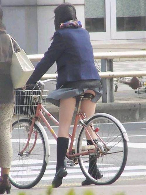 【盗撮画像】風が吹いたらパンチラしちゃう自転車通学JK画像 41枚 No.40