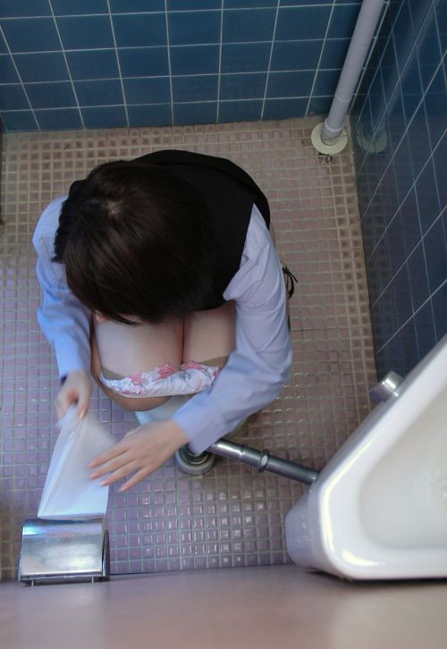【盗撮画像】女性の局部は見えないけど、洋式トイレもエロかった^^ 43枚 No.3