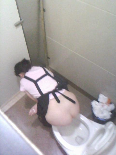 【盗撮画像】女性の局部は見えないけど、洋式トイレもエロかった^^ 43枚 No.21