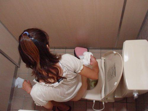 【盗撮画像】女性の局部は見えないけど、洋式トイレもエロかった^^ 43枚 No.27