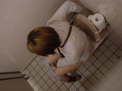 【盗撮画像】女性の局部は見えないけど、洋式トイレもエロかった^^ 43枚 No.35