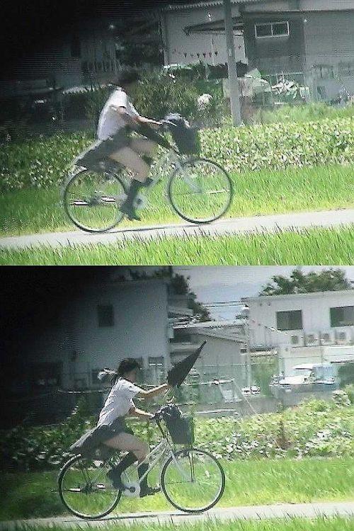 【盗撮画像】自転車に乗ってるJKのパンチラ率! 45枚 No.22