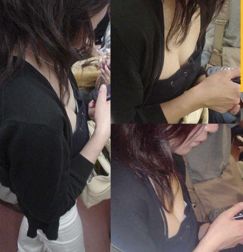乳房が半分くらい見えちゃってる胸チラ盗撮画像 35枚 No.27