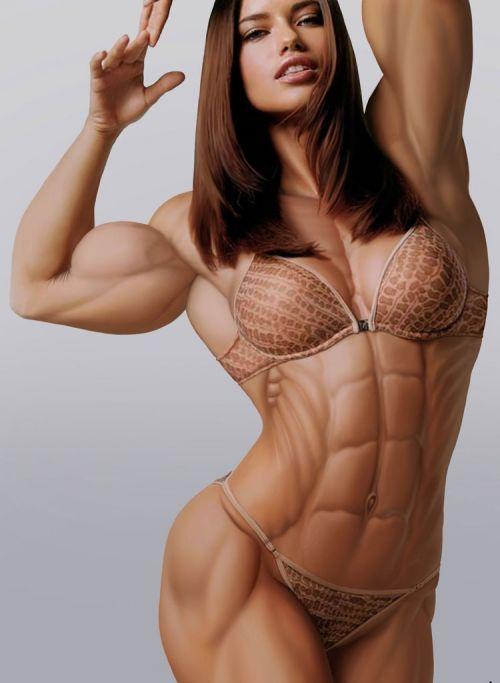 筋肉を鍛えてる外人女性が自慢の肉体を見せつけてくるエロ画像 35枚 No.17