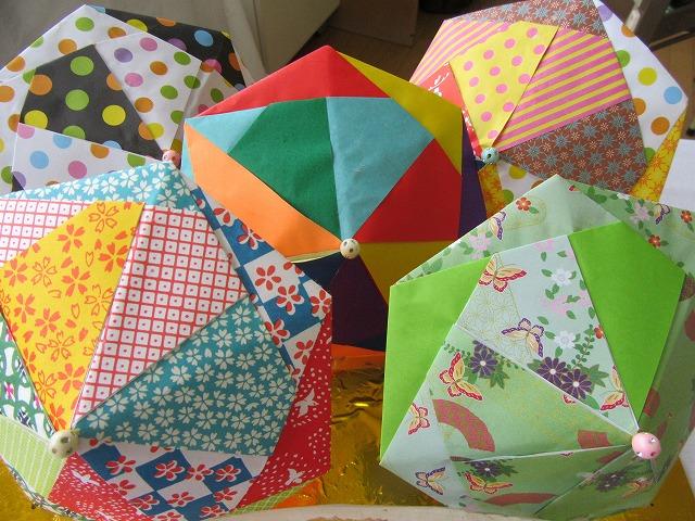 折り紙で傘 27.11.15