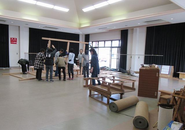 人形浄瑠璃定期公演の準備 27.11.22