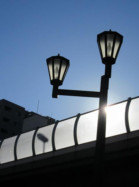 文楽劇場の前 朝 28.1.24