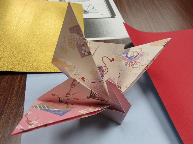 折り紙練習桃色 27.12.25