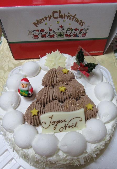 今年のクリスマスケーキ 27.12.23