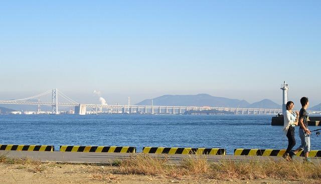 本島港から瀬戸大橋 27.10.26