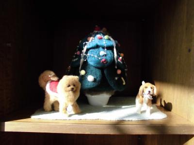 ポメとビーグル人形