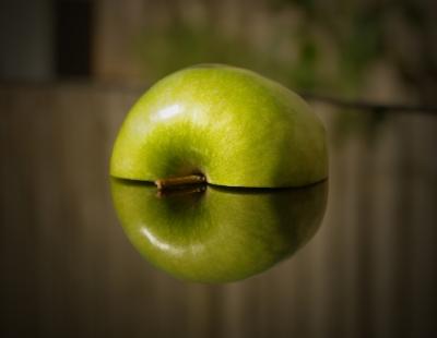 薄くした林檎