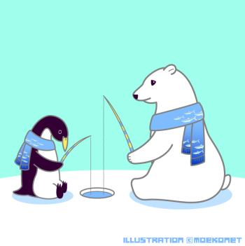 シロクマペンギンイラスト