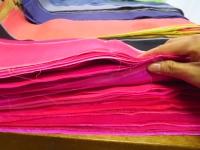 ピンクの端切れ シルク