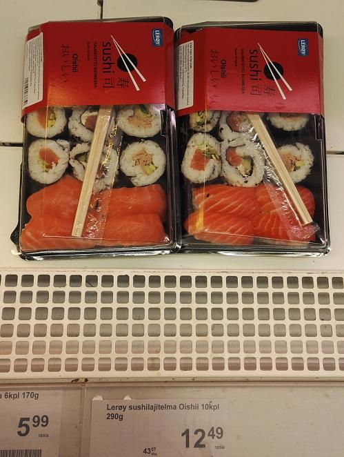 Sushi 寿司 スーパー フィンランド