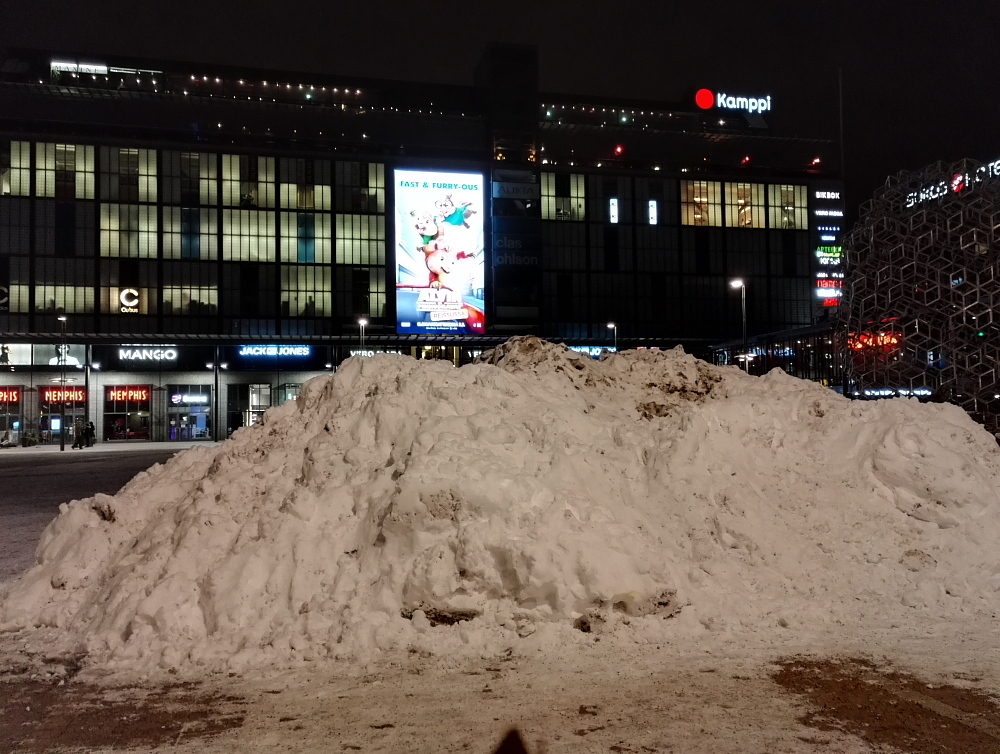 Kamppi Helsinki ヘルシンキ 雪山