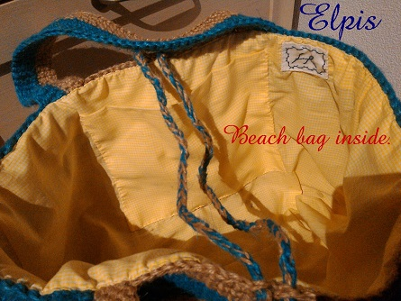 beach bag inside