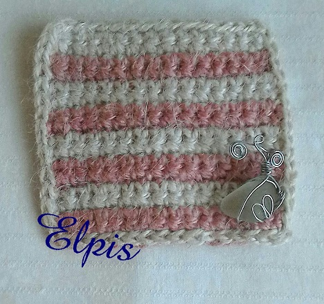hemp coaster pink