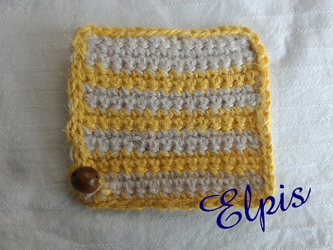 hemp coaster yellow