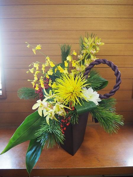h28,1お正月の花