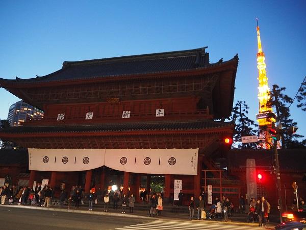 h28,1増上寺夜景