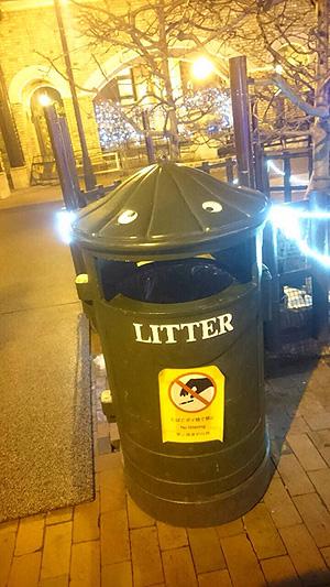 荒ぶるゴミ箱