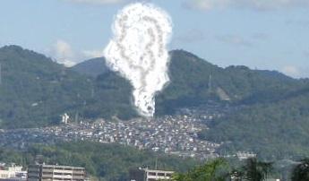 IMG_3517 団地の煙