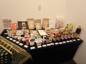 ムスリム旅行者受入セミナー_ハラール食材の展示