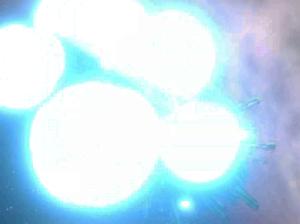 光子魚雷命中