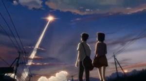 ロケットが飛ぶ