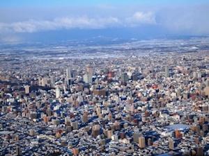 札幌冬のパノラマ