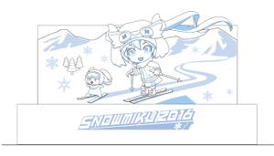 2016年の雪ミク雪像イメージ