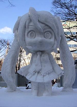 初音ミクの雪像