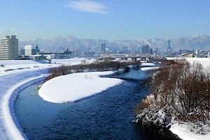 冬の豊平川20160228
