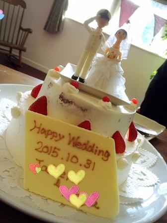 ウェディングケーキ&人形3