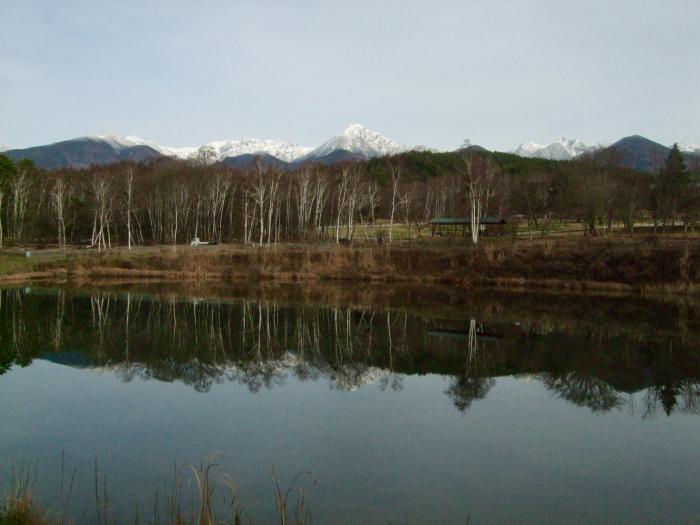 森の小径1129_まるやち湖から八ヶ岳