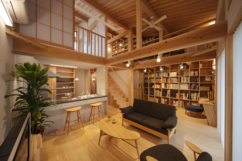 0929 Library-House(内観)