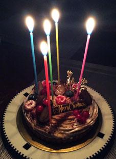 20151224The Bakeの栗xmas cake