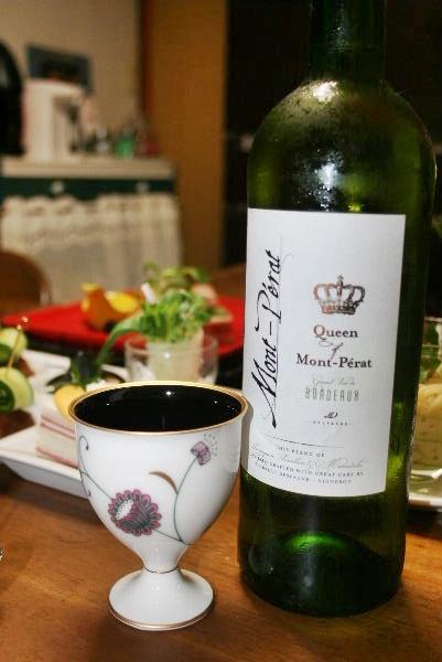 ワインとカップ
